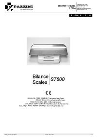 Manuale d'uso Fazzini S7600