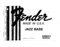 Manuale d'uso Fender Jazz Bass