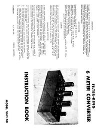 Обслуживание и Руководство пользователя Filterking VHF-50