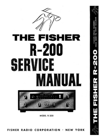 Manual de servicio Fisher R-200
