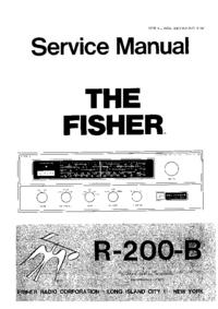 Руководство по техническому обслуживанию Fisher R-200 B