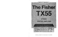 Manual de servicio Fisher TX-55