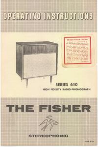 User Manual Fisher SERIES 610