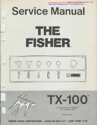 Manual de servicio Fisher TX-100