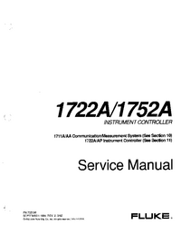 Manual de servicio Fluke 1722AP