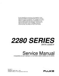 Manual de serviço Fluke 2280A