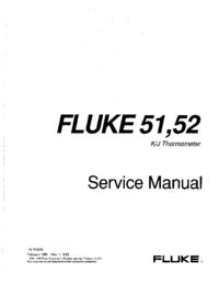manuel de réparation Fluke 51