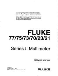 Manuale di servizio Fluke 21