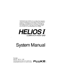 Service and User Manual Fluke Helios I