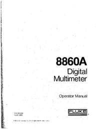 User Manual Fluke 8860A