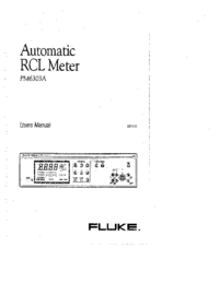 User Manual Fluke PM6303A