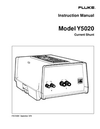 Service and User Manual Fluke Y5020