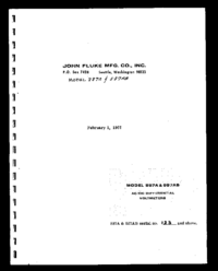 Serwis i User Manual Fluke 887A