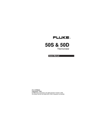Manuel de l'utilisateur Fluke 50S