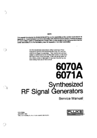 Service Manual Fluke 6070A
