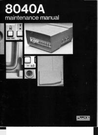 Servizio e manuale utente Fluke 8040A