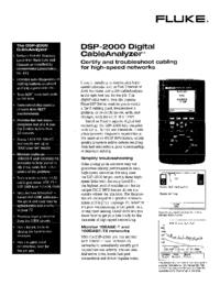 Datasheet Fluke DSP-2000