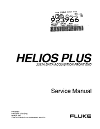Manual de servicio Fluke Helios Plus
