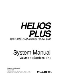 Instrukcja obsługi Fluke Helios Plus