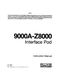 Service et Manuel de l'utilisateur Fluke 9000A-Z8000