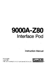 Serviço e Manual do Usuário Fluke 9000A-Z80