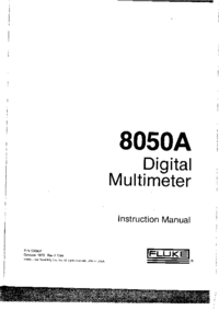 Manual del usuario, Diagrama cirquit Fluke 8050A