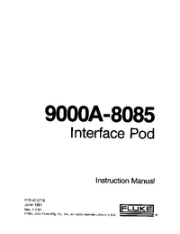 Manual del usuario Fluke 9000A-8085