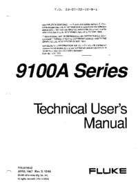 User Manual Fluke 9105A