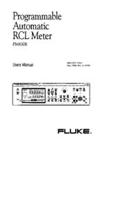 Bedienungsanleitung Fluke PM6306