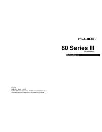 Gebruikershandleiding Fluke 80 Series III
