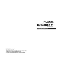 Manual do Usuário Fluke 80 Series V