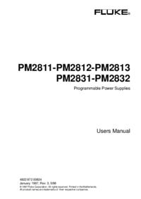 Manual del usuario Fluke PM2812