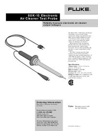 Gegevensblad Fluke 80K-15