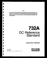 Service and User Manual Fluke 732A