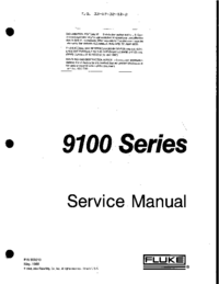 Service Manual Fluke 9100 Series