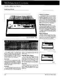 Dane techniczne Fluke 1910A