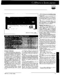 Datasheet Fluke 5200A