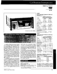 Scheda tecnica Fluke 5442A