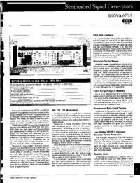 Datenblatt Fluke 6071A