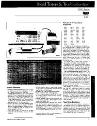 Технический паспорт Fluke 9000 Series