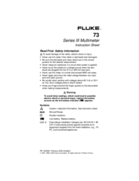 User Manual Fluke 73 Series II
