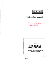 Service and User Manual Fluke 4265A