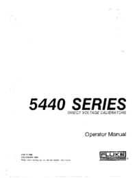 User Manual Fluke 5440 SERIES
