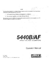 Instrukcja obsługi Fluke 5440B/AF