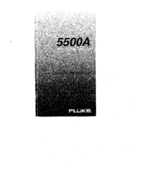 User Manual Fluke 5500A