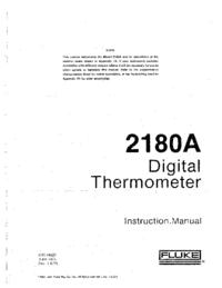 Servicio y Manual del usuario Fluke 2180A