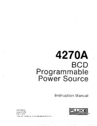 Serwis i User Manual Fluke 4270A