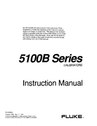 Обслуживание и Руководство пользователя Fluke 5100B