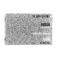 Manuale d'uso Fluke 8025A