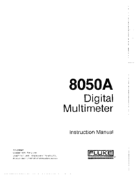 Service and User Manual Fluke 8050A